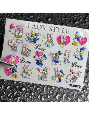 Стикеры для ногтей S3D20
