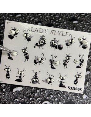 Стикеры для ногтей S3D8