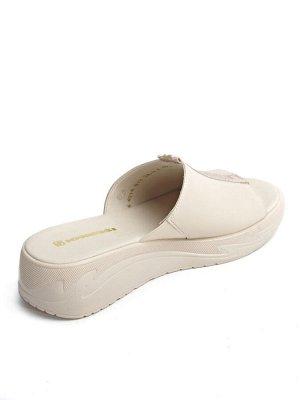 Туфли открытые летние женские, бежевый