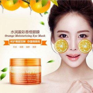 Патчи для кожи вокруг глаз апельсин Bioaqua Orange eye mask, 36 шт.