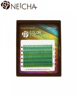 Ресницы Neicha mini mix Blue green лазурный 6 линий