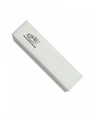 Баф-брусок для ногтей PNB 180/180 White, прямоугольный