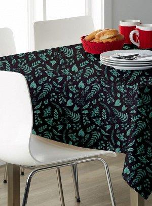 Скатерть 120*145 Bonita, Ботаника, черная