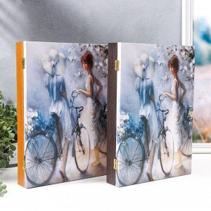 "Ключница-картина на холсте ""Весна"" 34х24х6 см"