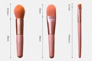 Набор мини кисточек для создания безупречного макияжа KOSRELA BEAUTY FOLLOWS ME BRUSH PRO TOUCH MINI BRUSH SET 7PCS
