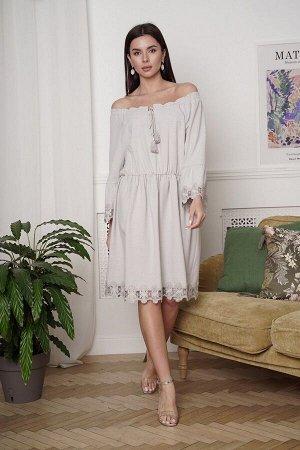 Платье LadisLine 1348 серый