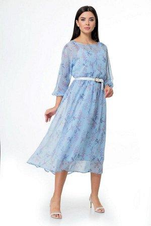 Платье Мишель стиль 937/1 голубой