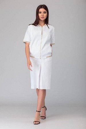 Блуза, юбка Anelli 631/1 белый-золото