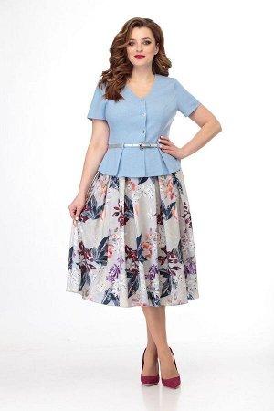 Жакет, юбка Anelli 690 голубой
