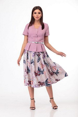 Жакет, юбка Anelli 690 сирень-розовый