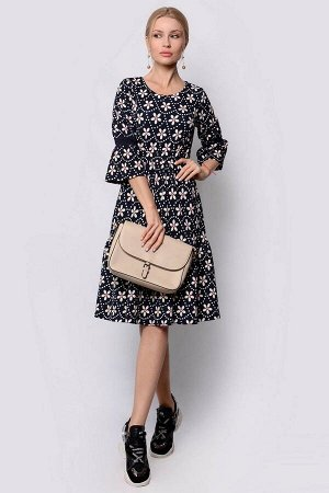 Платье PATRICIA by La Cafe F14284 темно-синий,белый