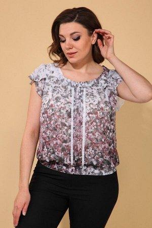 Блуза La Prima 0636 серо-лиловый