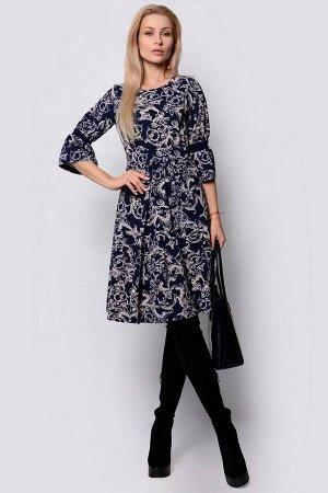 Платье PATRICIA by La Cafe F14284 темно-синий,серый