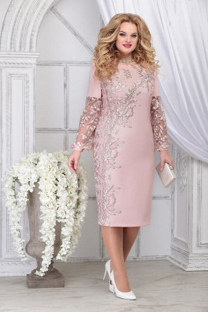 Платье Ninele 5817 пудра