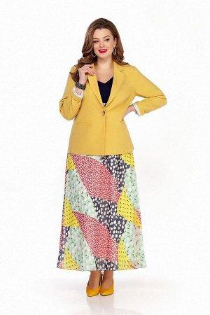 Жакет, платье TEZA 1340 желтый