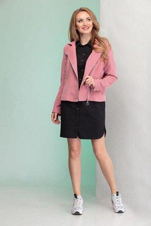 Куртка, платье Angelina & Сompany 345 пудра