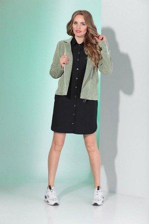 Куртка, платье Angelina & Сompany 346 олива