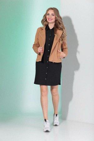 Куртка, платье Angelina & Сompany 346 песок