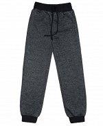 Серые брюки для мальчика с поясом и манжетами Цвет: чёрный меланж
