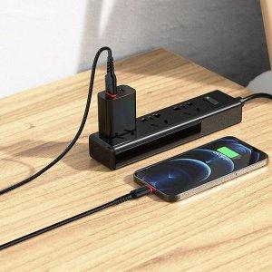 Кабель USB HOCO X59 Victory, USB - Lightning, 2.4А, 1 м, черный