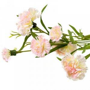 """Букет """"Гвоздика"""" 70см, цветки из ткани, бело-розовый (Китай)"""