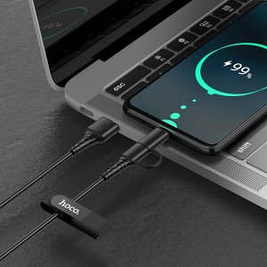 Кабель USB HOCO X54 Cool, USB - Type-C+MicroUSB, 2.4А, 1 м, черный