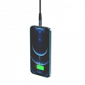 Кабель USB HOCO X60 Honorific, for Lightning, 2А, 1 м, черный, с магнитным выходом