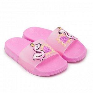 Слайдеры детские пляжные, цвет розовый, размер 30