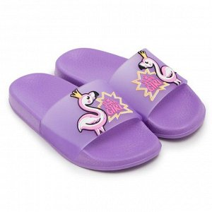 Слайдеры детские пляжные, цвет фиолетовый, размер 30