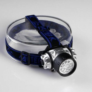 "Фонарик налобный ""Мастер К"", 14 LED, рассеиватель микс, 3 ААА, 7х4 см"