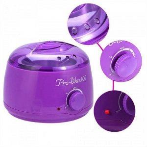Воскоплав для нагрева воска фиолетовый Pro-Wax100, 500 мл.