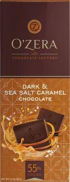 «OZera», горький шоколад Dark&Sea salt caramel, 90 г