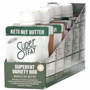 SuperFat, Variety Box, изумительное ореховое масло, 10пакетиков по 42г (1,5унции) каждый