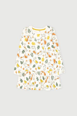 Платье(Осень-Зима)+girls (сливки, осенний лес к1270)