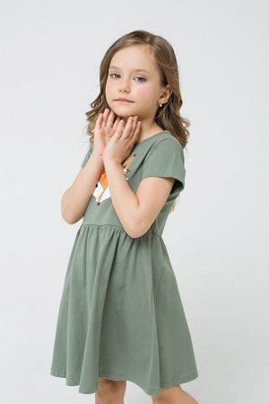 Платье(Осень-Зима)+girls (папоротник к1270)