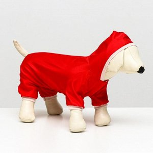 Комбинезон  для собак, размер 2XL (ДС 34-36 см, ОШ 34-36 см, ОГ 44-48 см), красный