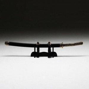 Сувенирное изделие Катана на подставке, бронзовая отделка