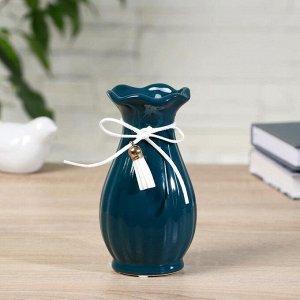 """Ваза керамика настольная """"Фло"""" 6,5х7,5х13,5 см, (диаметр отверстия 3см) микс"""