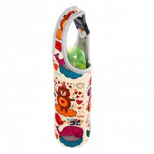 Термосумка для бутылочки «Счастье»  до 330 мл, цвет бежевый (2256)