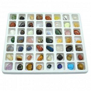 Коллекция минералов 56 самоцветов, 220гр, (19-2)