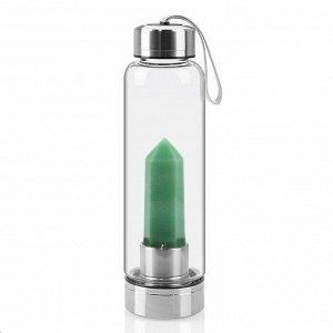 Бутылка для воды с жадеитом 70*70*250мм