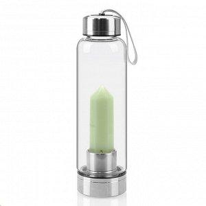Бутылка для воды с кварцем светящимся 70*70*250мм