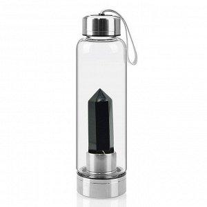 Бутылка для воды с ониксом черным 70*70*250мм