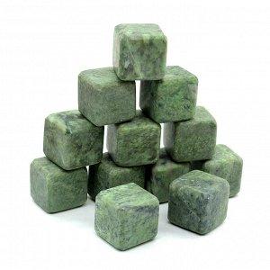 Камни для виски 12 кубиков из жадеита 20*20мм
