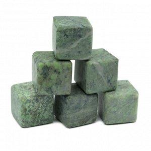 Камни для виски 6 кубиков из жадеита 20*20мм.