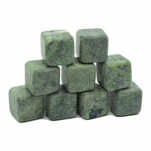 Камни для виски 9 кубиков из жадеита 20*20мм