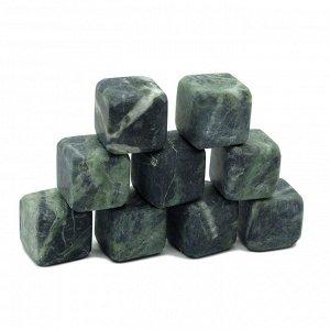 Камни для виски 9 кубиков из змеевика 20*20мм