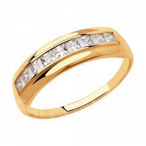 Кольцо из золота с фианитами арт к-2035