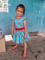 Платье Арбузик