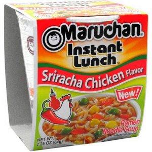 Лапша быстрого приготовления Маручан Инстант Ланч со вкусом курицы и перцем сирача - 64g